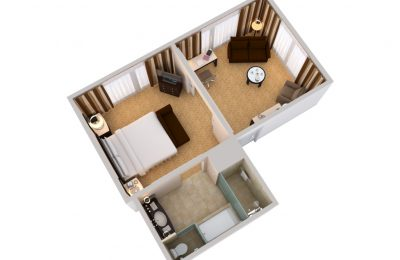 Beverly Hilton Executive Suite floor plan