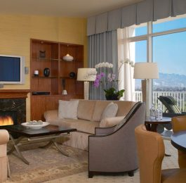 Beverly Hilton One Bedroom Suite Living Room