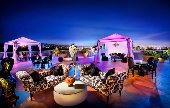 Elegant evening rooftop event at the Stardust Penthouse